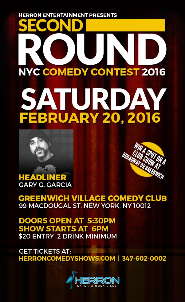 February 20, 2016 @ 6:00 pm | NYC Winter Comedy Contest Second Round